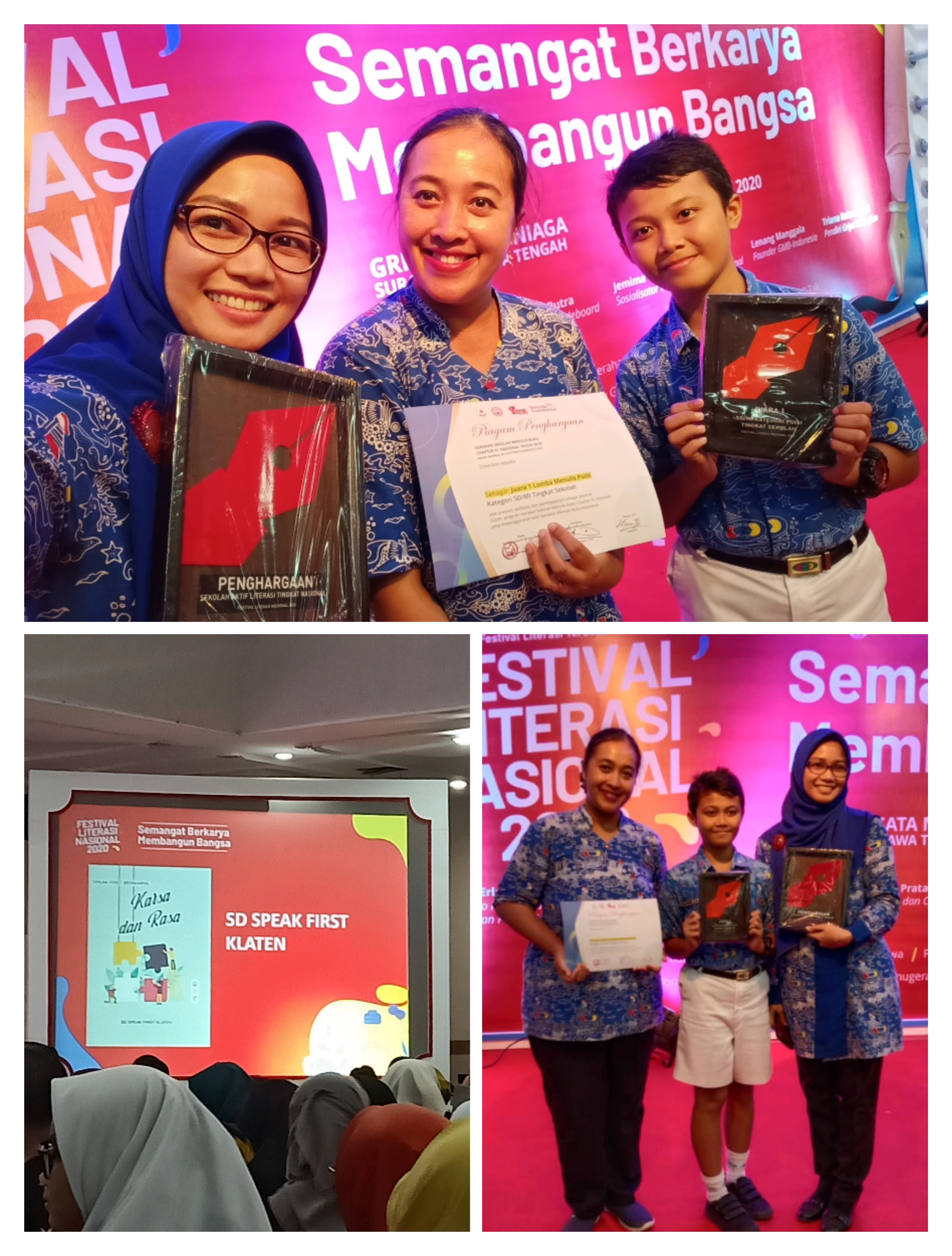Speak First Bilingual Primary School Joined Festival Literasi Nasional 2020